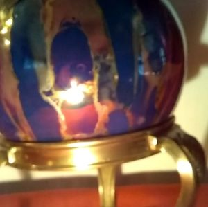Other - Collectible Glass & Brass Ball with Stand